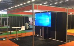 Videowall portfolio 2x2 wandmontage.
